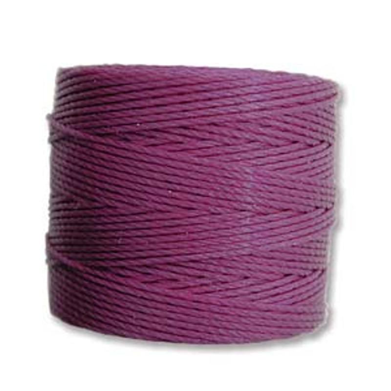S-Lon Bead Cord, Plum (TEX 210, Medium Weight) (77 yd)