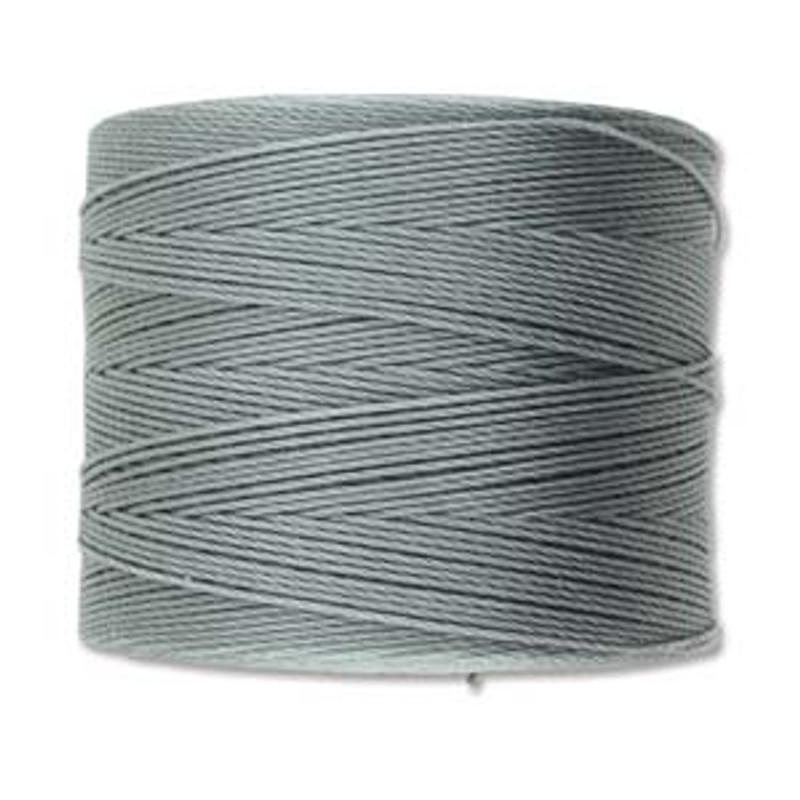 S-Lon Bead Cord, Grey  (TEX 70, Micro Weight) (262 yd)