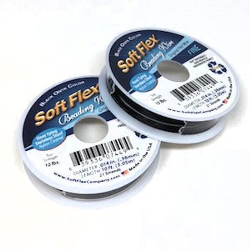 Soft Flex, Black, .014 Diameter (Fine weight) (10 ft.)