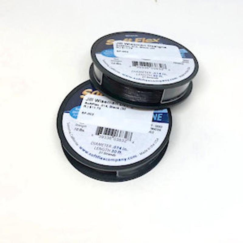 Soft Flex, Black, .014 Diameter (Fine weight) (30 ft.)