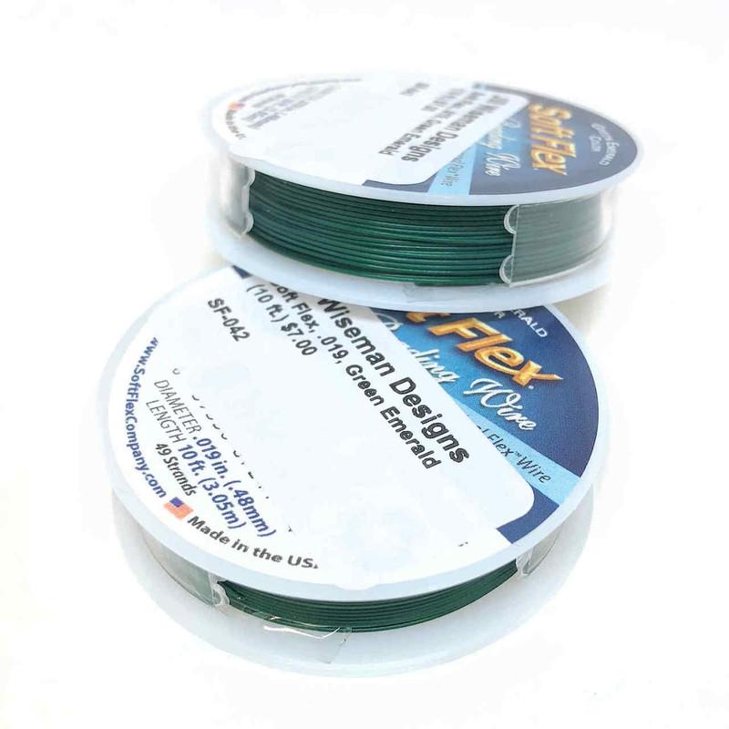 Soft Flex, Green Emerald, 019 diameter (Medium weight) (10 ft.)