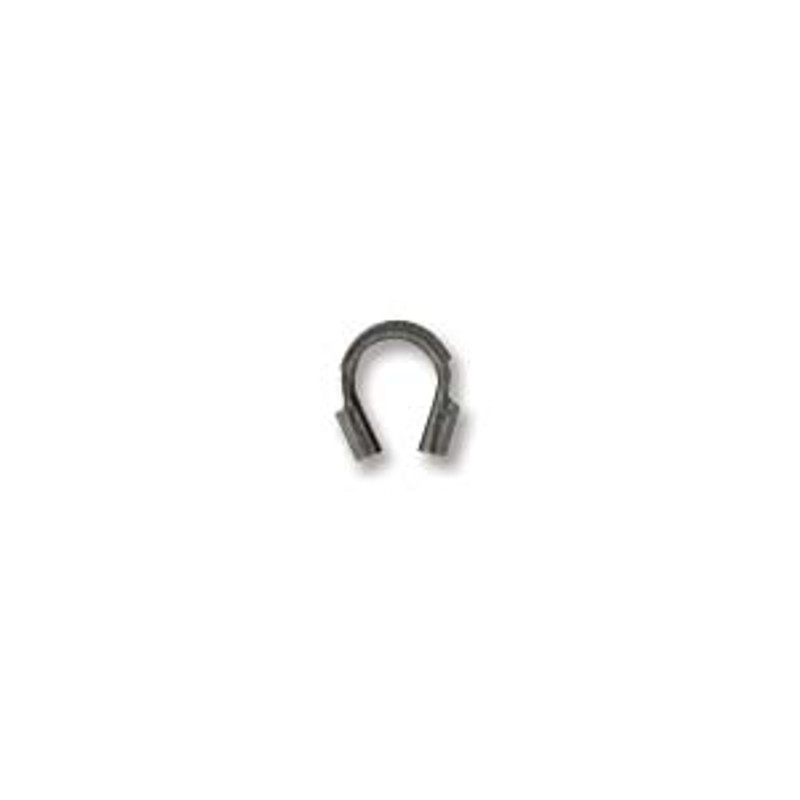 Wire Guard, Antique Silver Plate, 4mm (Qty: 20)
