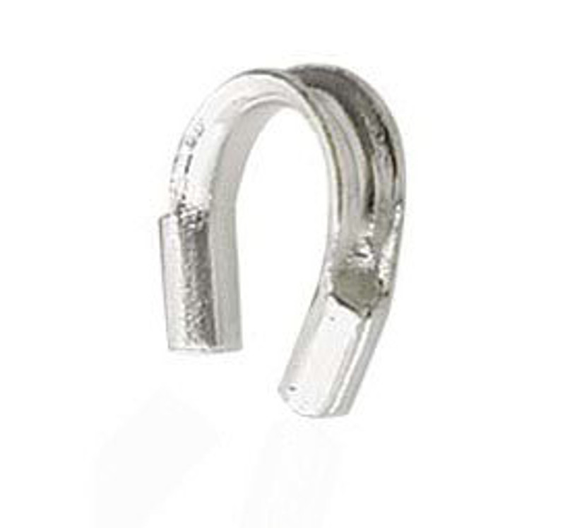 Wire Guard, Sterling Silver, 4mm (Qty: 20)