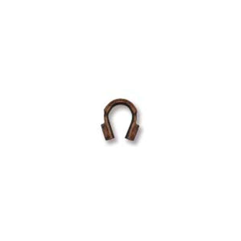 Wire Guard, Antique Copper Plate, 4mm (Qty: 20)