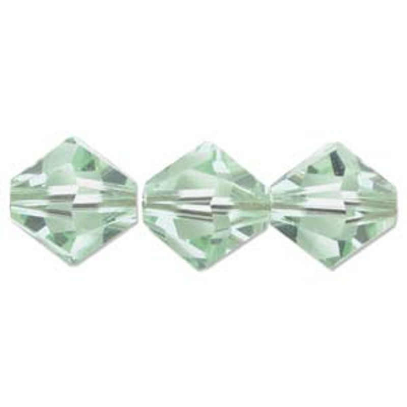3mm Swarovski Bicones, Chrysolite (Qty: 50)
