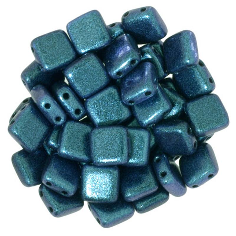 2-Hole CzechMates Tile Beads, Indigo Orchid (Qty: 25)