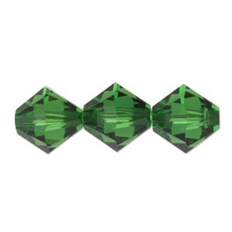 3mm Swarovski Bicones, Dark Moss Green (Qty: 50)