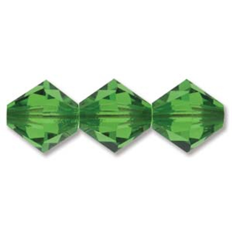 3mm Swarovski Bicones, Fern Green (Qty: 50)
