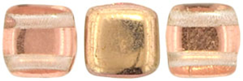 2-Hole CzechMates Tile Beads, Apollo Gold (Qty: 25)