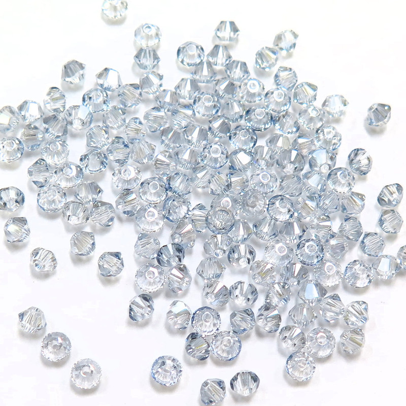 3mm Swarovski Bicones, Crystal Blue Shade (Qty: 50)