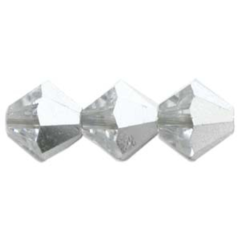 3mm Swarovski Bicones, Crystal Comet Argent Light (Qty: 50)