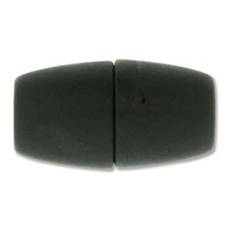 Acrylic Magnetic Clasp 31x17mm with 10.75mm ID - Matte Black (C232)