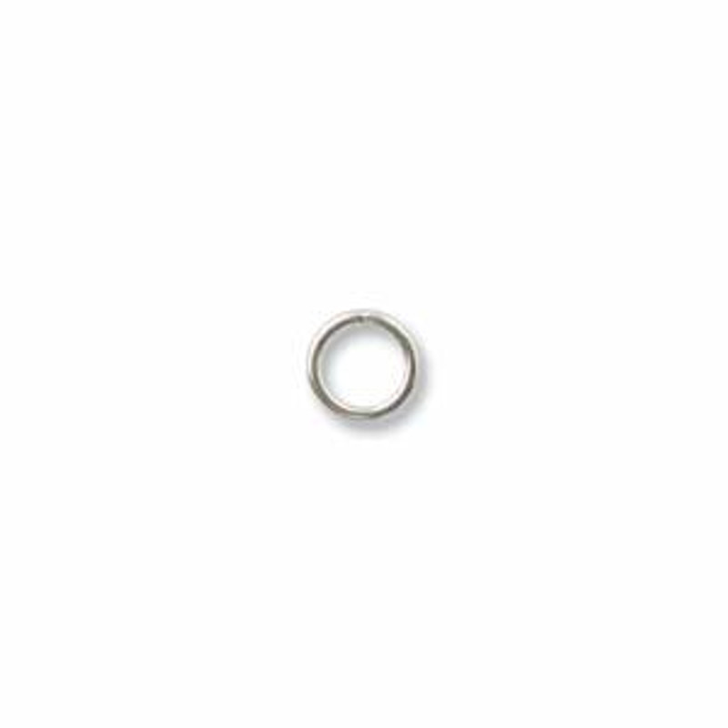 4mm Closed Jump Rings, Silver-Filled (Qty: 10)