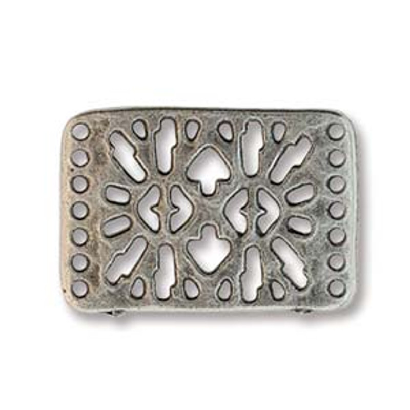 Bracelet Connector, Silver Plated - 26x18mm (Qty: 1) (BC-05)