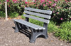 Recycled Plastic Outdoor and Park Bench Central Park 4'