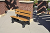 Recycled Plastic Outdoor and Park Bench Colonial 4'