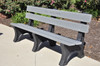 Recycled Plastic Outdoor and Park Bench Colonial 6'