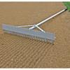 Baseball field maintenance double play rake