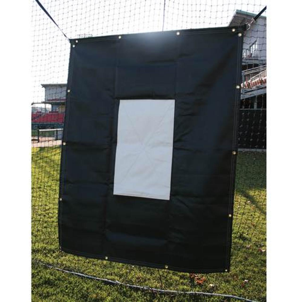 Baseball Batting Cage Vinyl Backdrop with Target