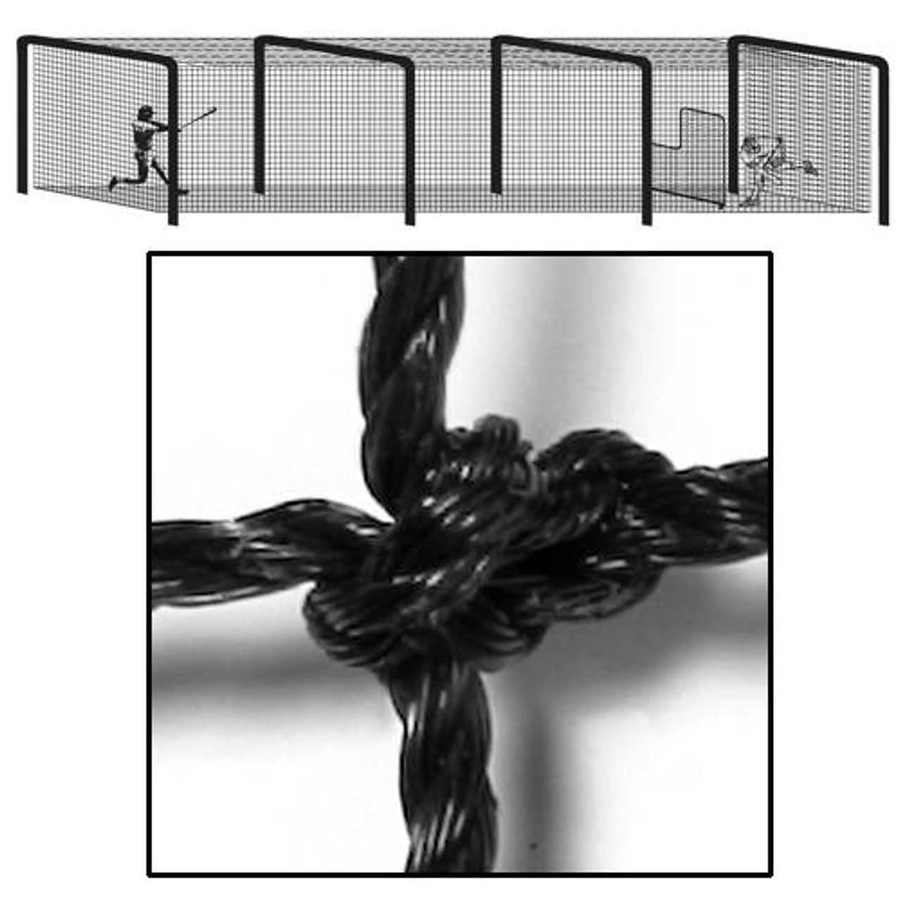 Baseball Collegiate Batting Tunnel Net 70x12x12