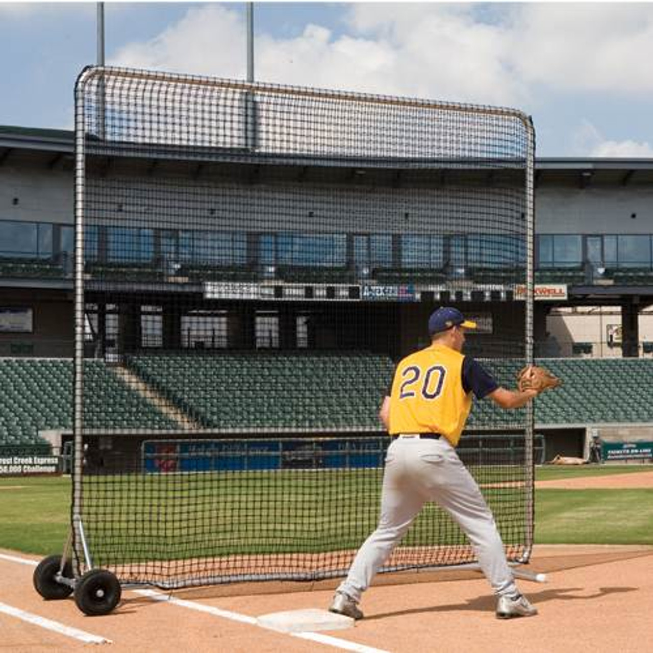 Baseball Protector Pro Base Fungo Screen 8' x 8'