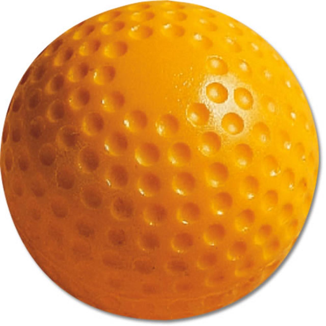 """MacGregor 9"""" Yellow Dimpled Machine Baseballs"""