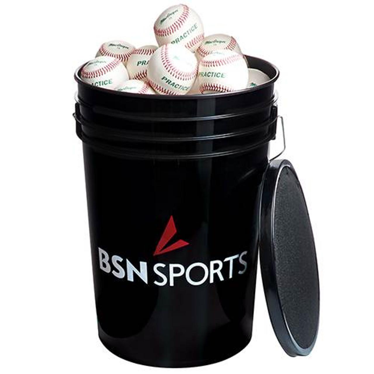 BSN SPORTS Bucket w/3 dz 79P Baseballs