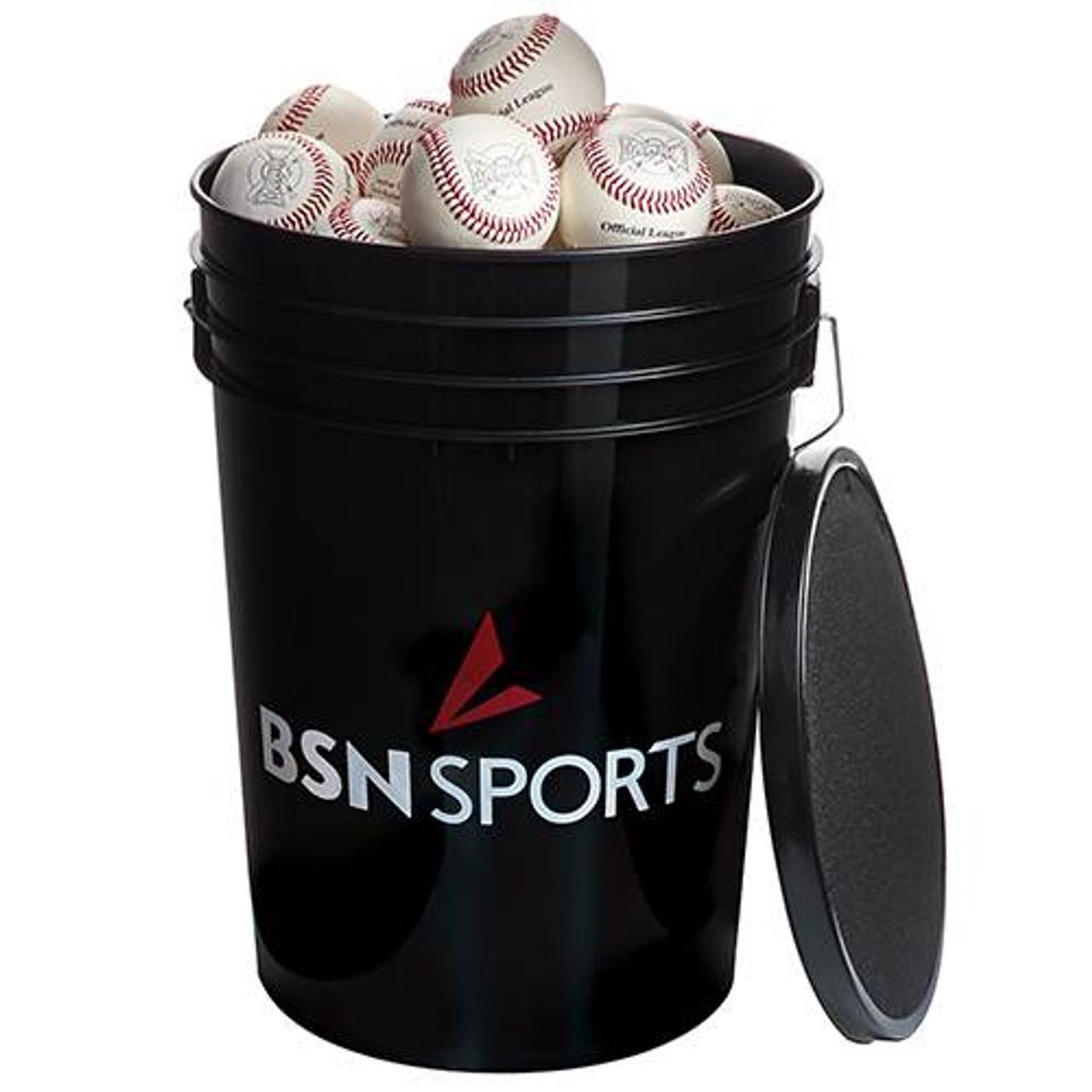 BSN SPORTS  Bucket with 36 Mark 1 Official League Baseballs