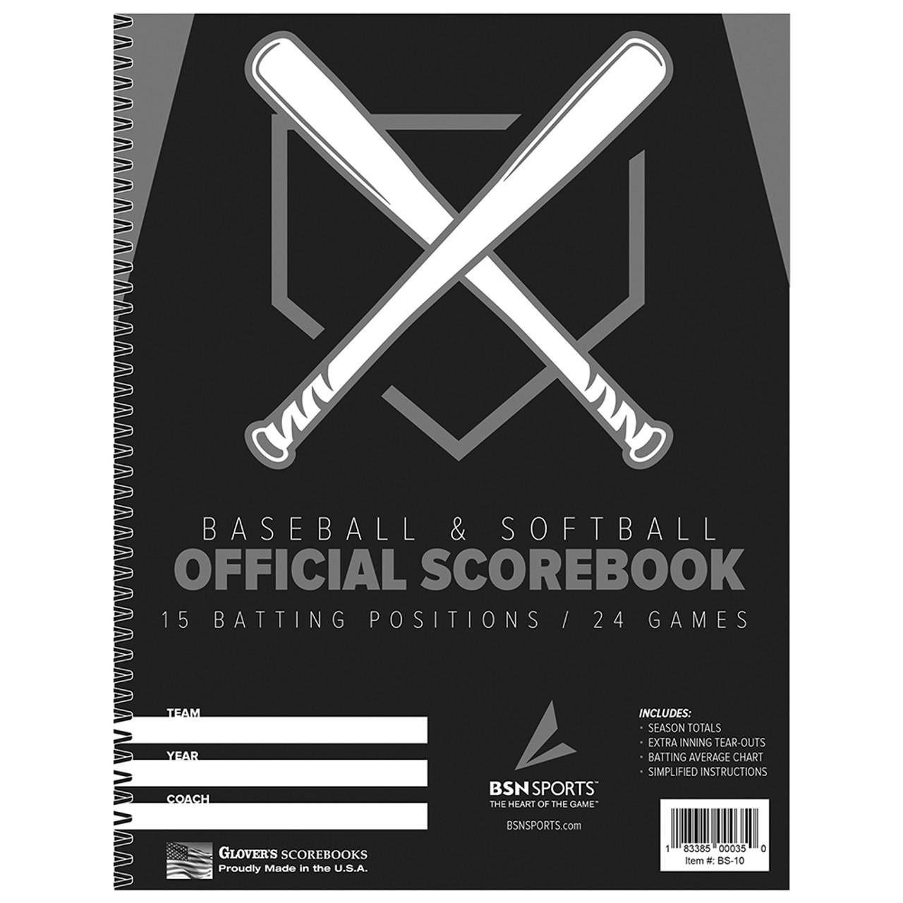 Baseball and softball scorebook