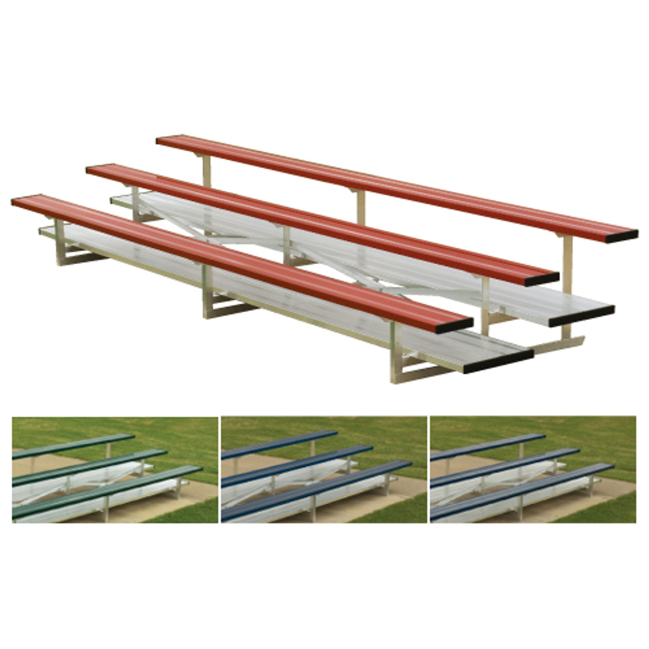 aluminum bleachers 2 Row 15' Standard (seats 20) add Color