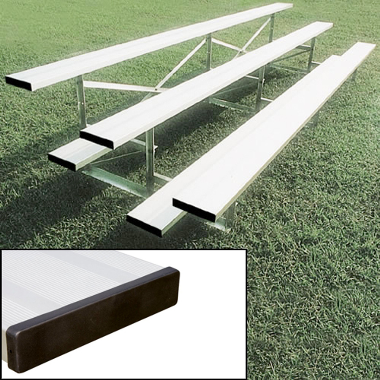 aluminum bleachers 2 Row 21' Standard (seats 28)