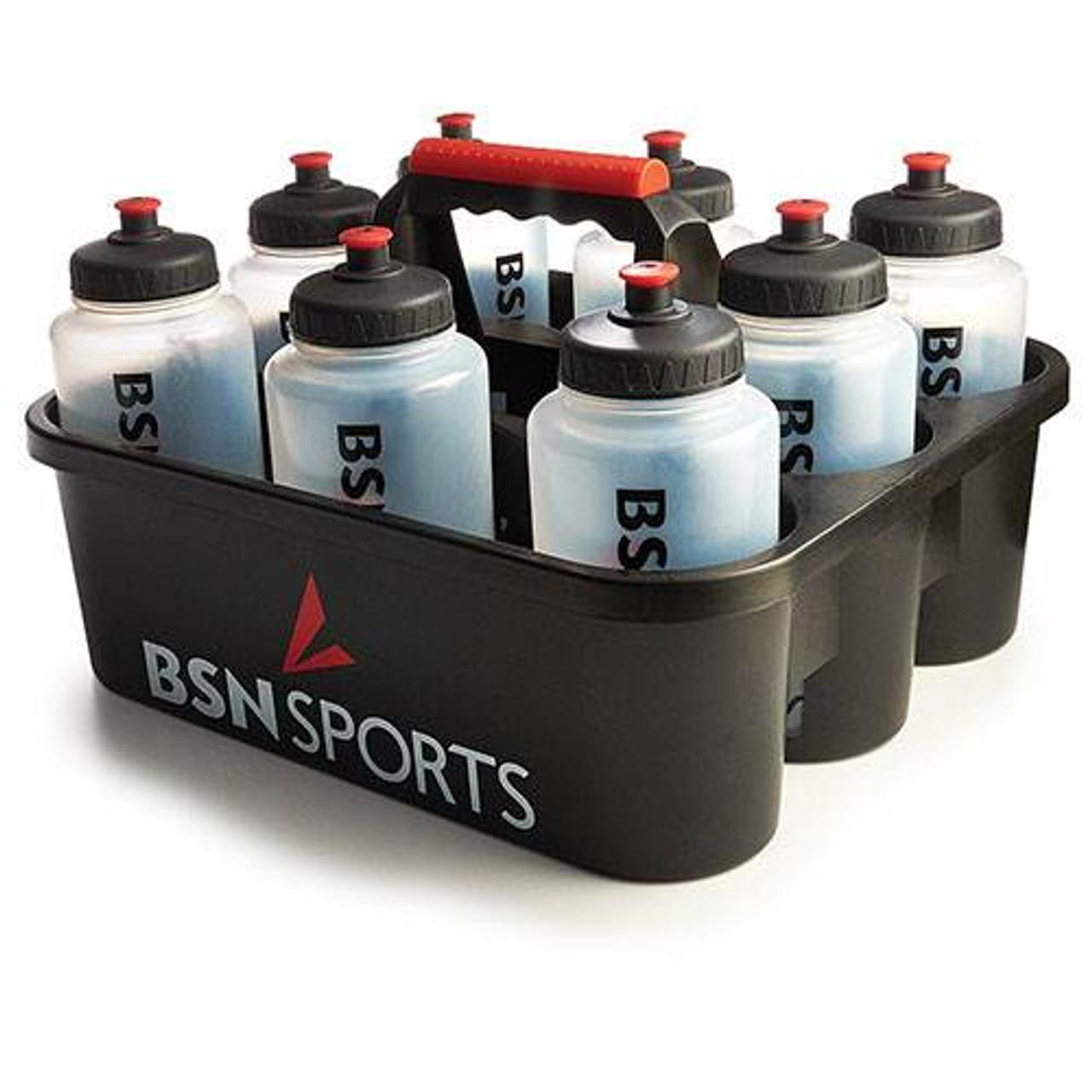 BSN SPORTS Bottle Carrier w/ 8 Qt Bottles