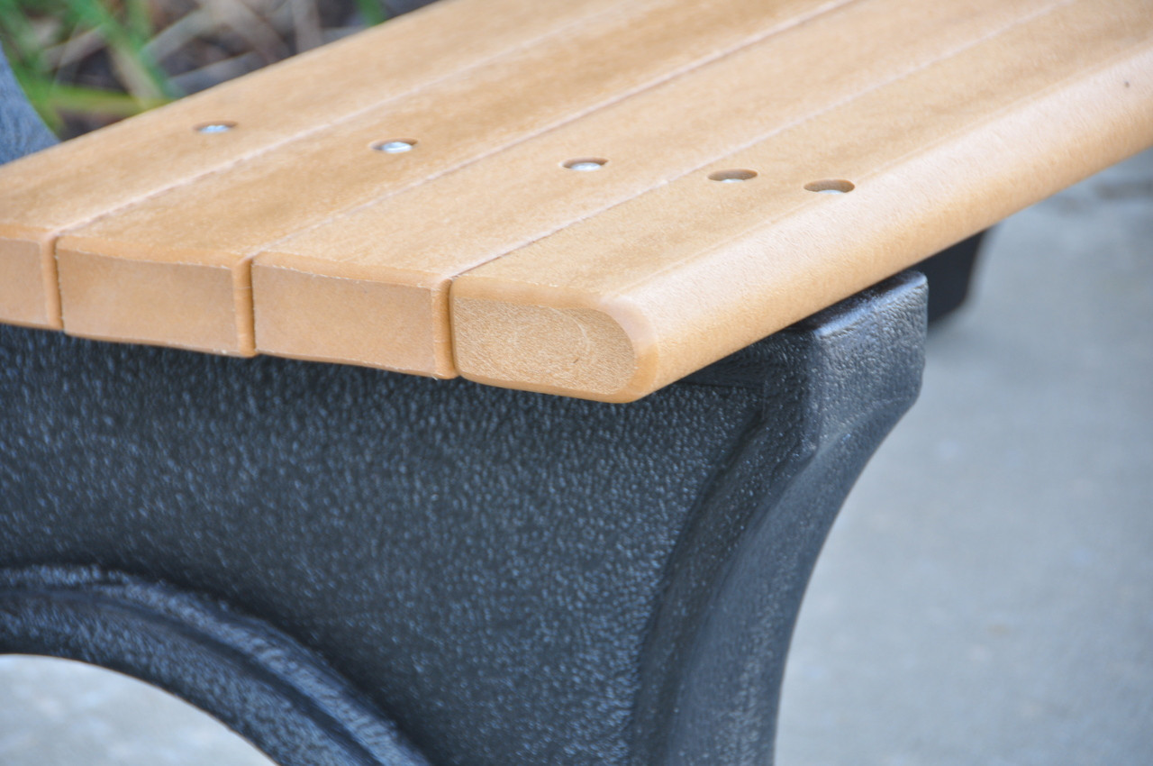Comfort Park Avenue Recycled Plastic Outdoor and Park Bench - 6'