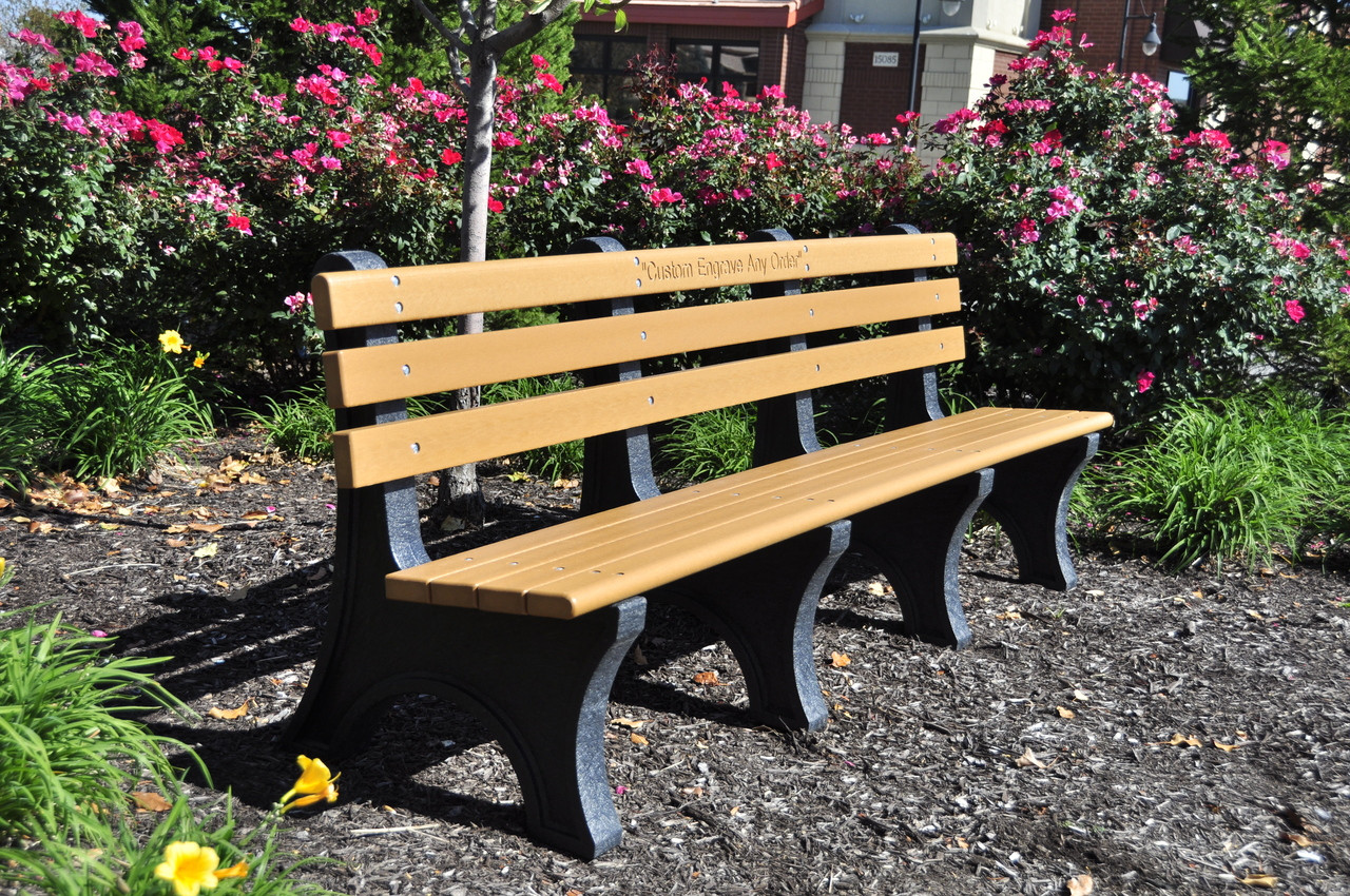 Comfort Park Avenue Recycled Plastic Outdoor and Park Bench - 8'