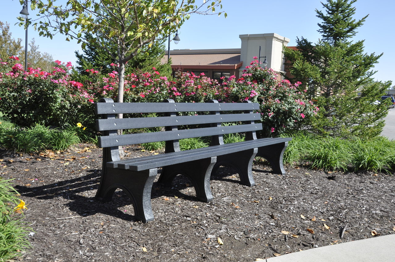 Recycled Plastic Outdoor and Park Bench Central Park 8'