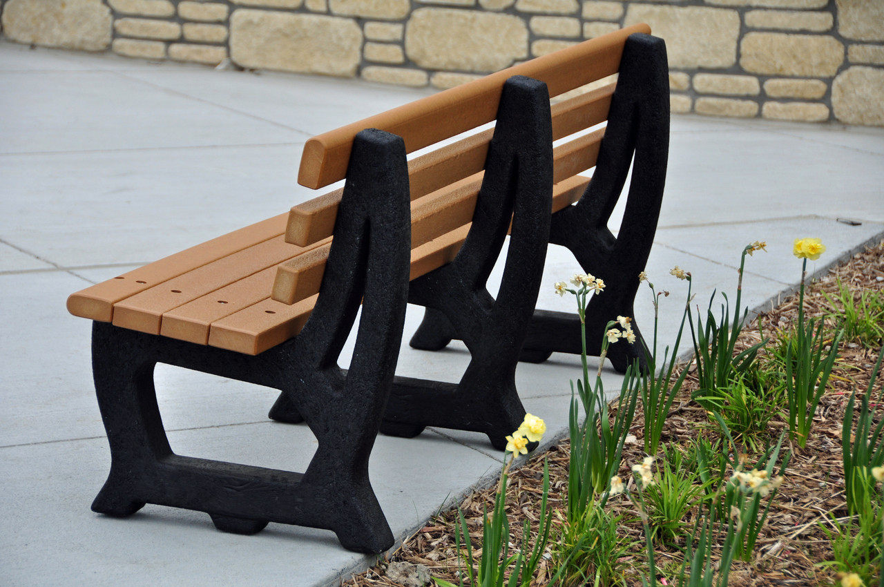 Brooklyn Recycled Plastic Outdoor and Park Bench - 4'