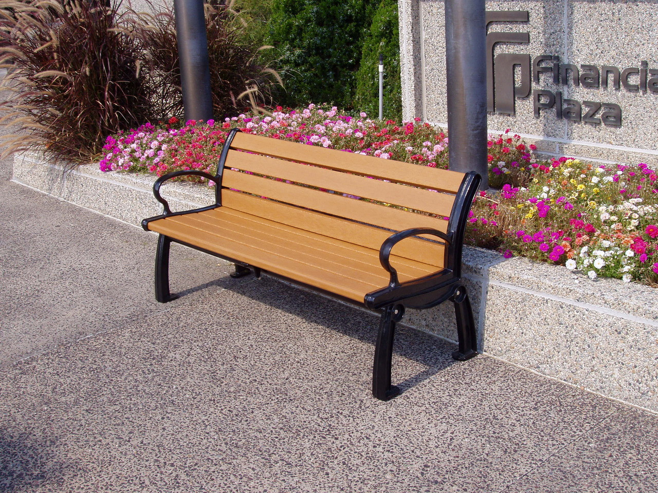 Recycled Plastic Outdoor and Park Bench Heritage 5'
