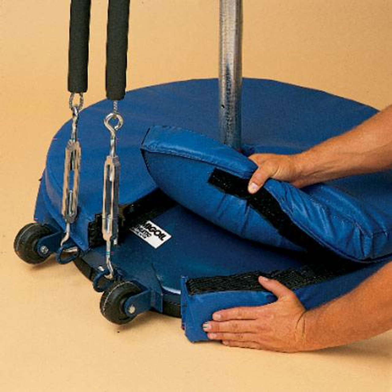 """Volleyball Standard Base Pad 30"""" Blue"""