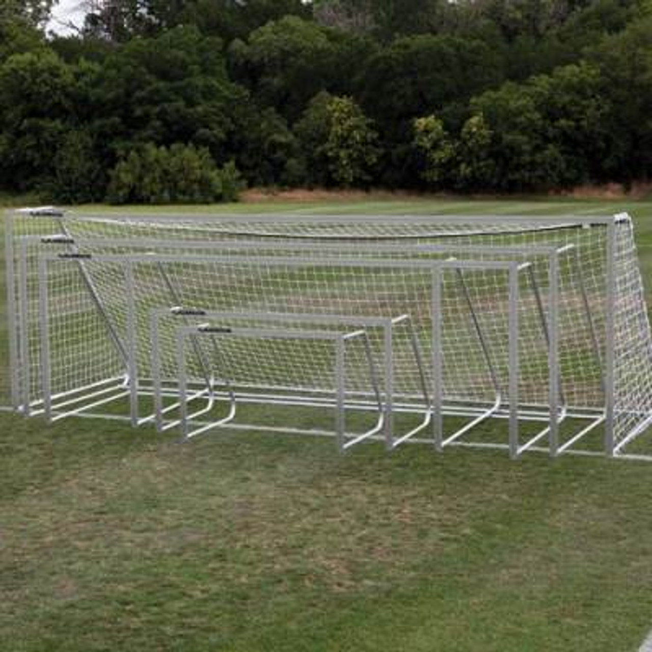 Alumagoal Soccer Goal 8'x24' aluminum finish