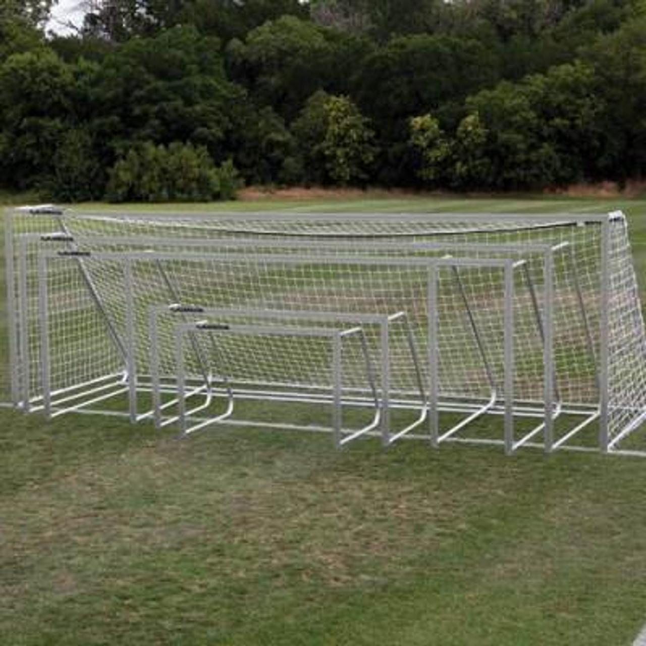 Alumagoal Soccer Goal 4.5x9 aluminum finish