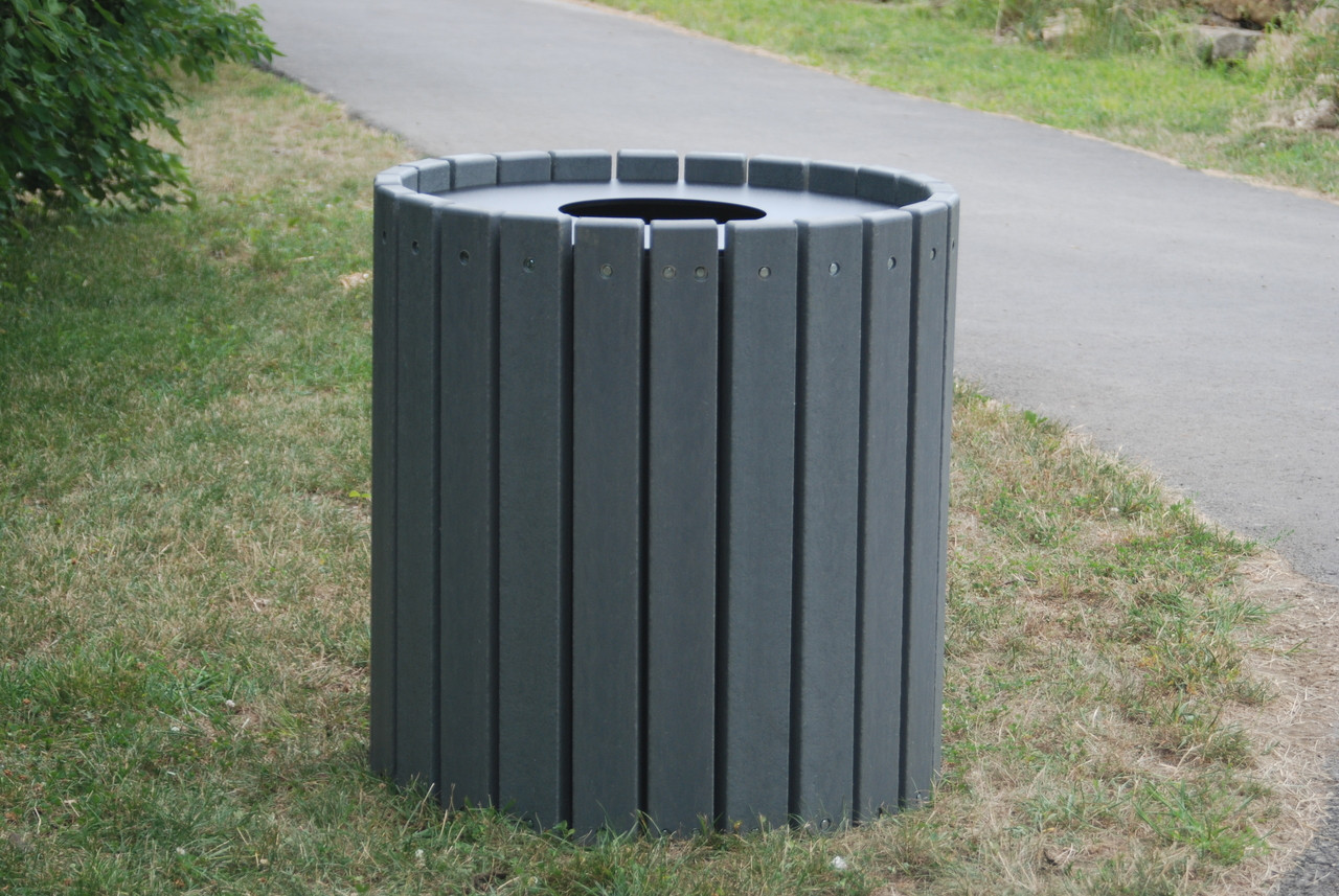Heavy Duty Round Receptacle - 55 gallons