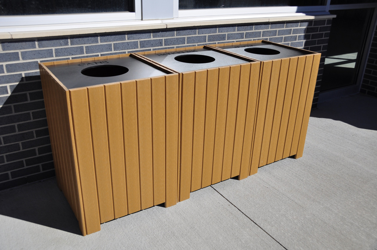 Square Recycling Center - 96 gallons
