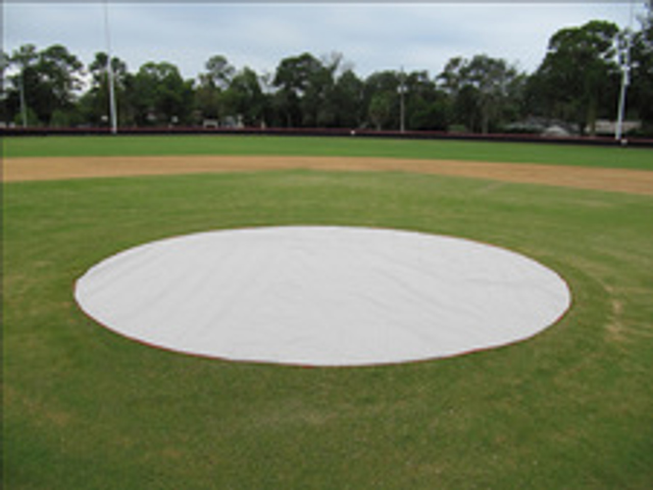 Weighted 6 oz. 26' Diameter Mound & Base Protector - Baseball Field Covers