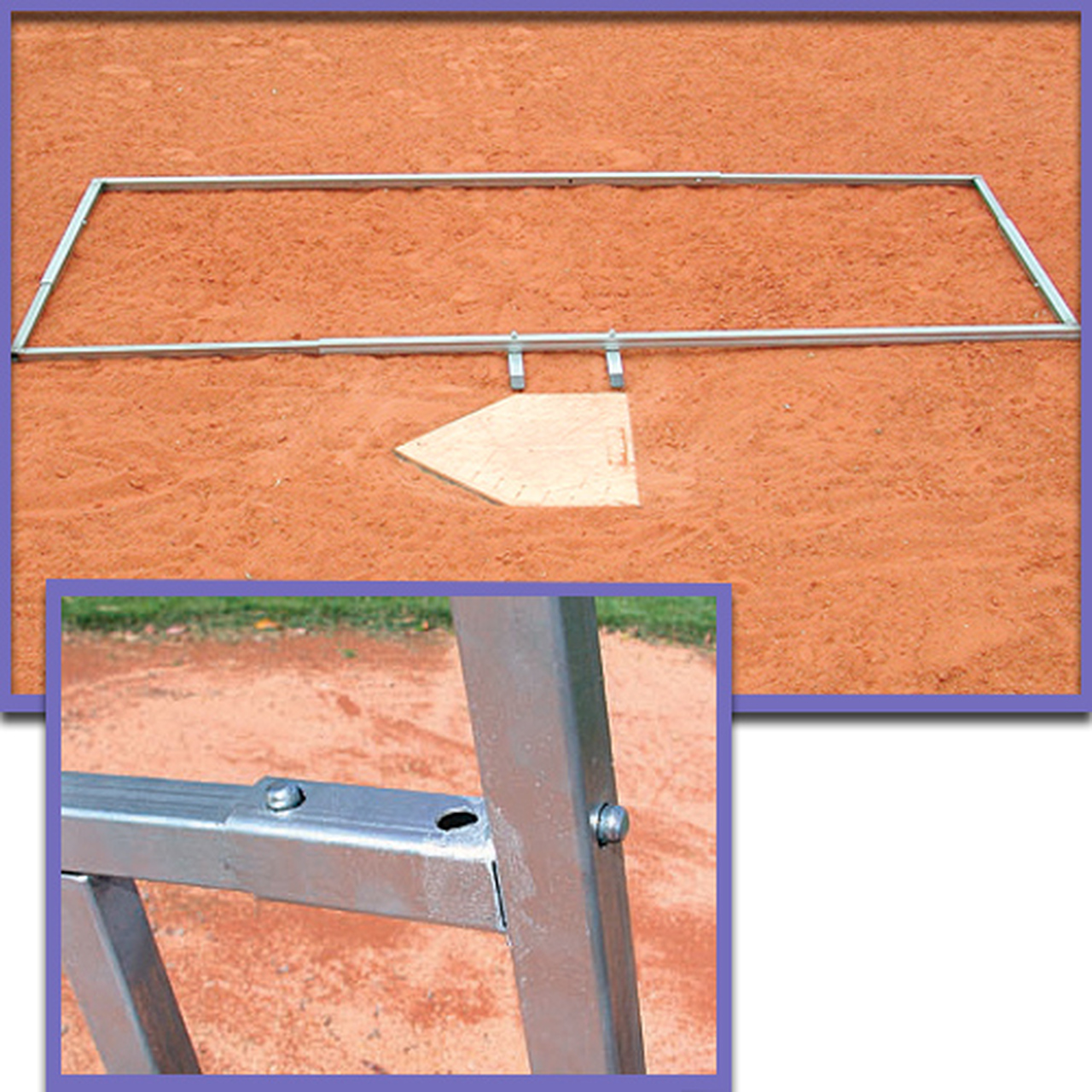 Baseball batter's box adjustable template