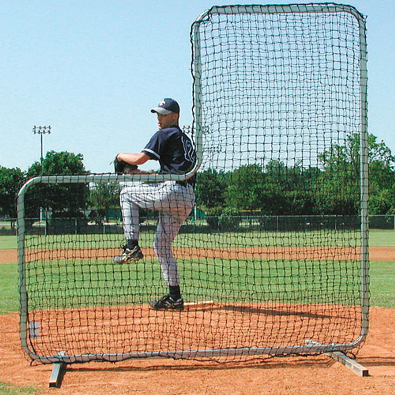 Collegiate Baseball pitchers protector screen