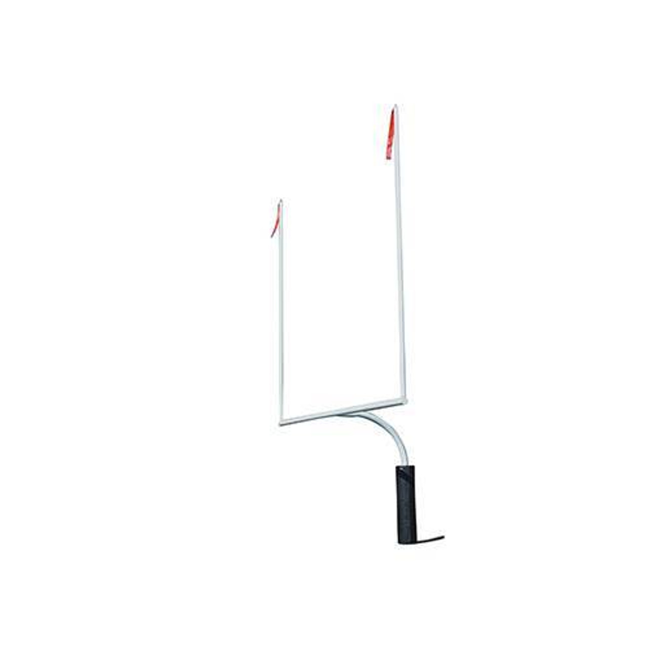 H.S. Football Goalposts with 30' Upright - White