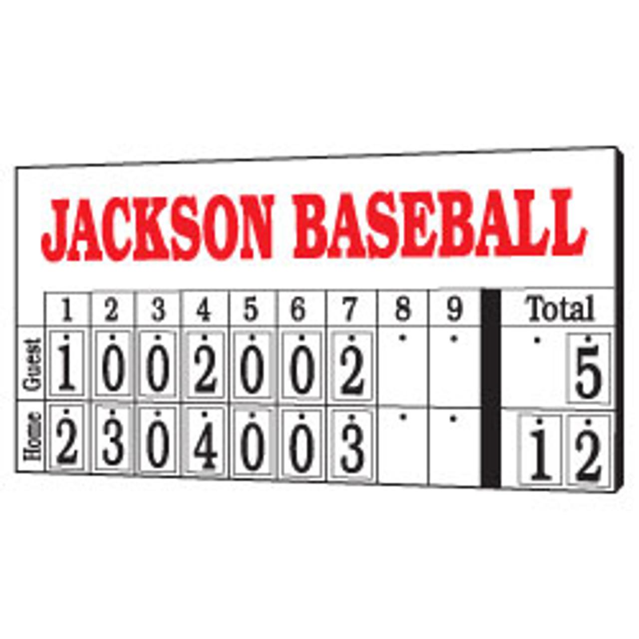 8' x 4' Hanging Numbers Baseball Scoreboard