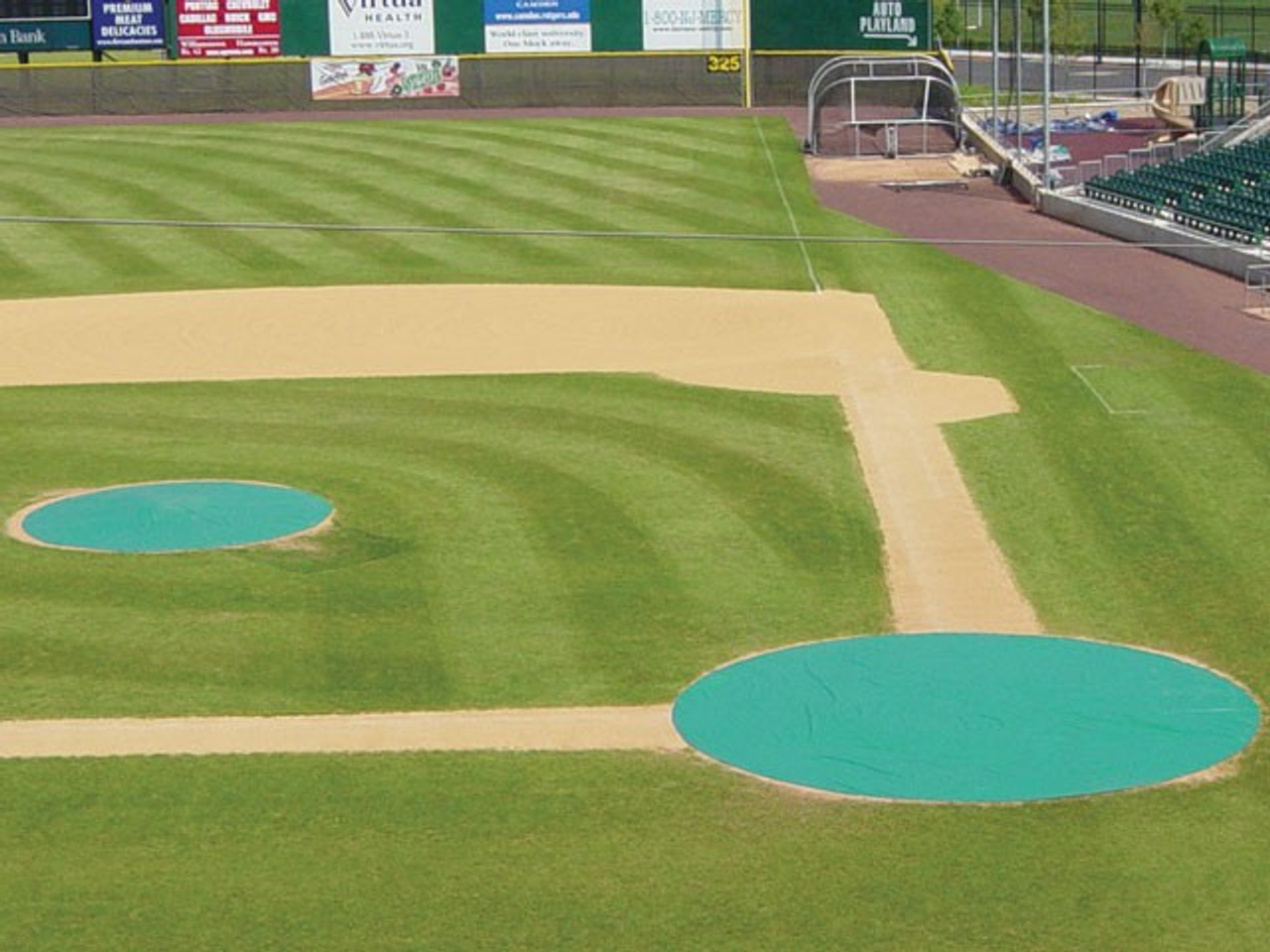 30' Non-weighted Baseball Mound/Base Covers - 18 oz. Vinyl
