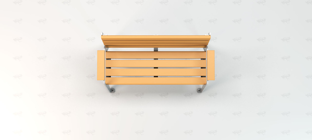 Plaza Recycled Plastic Outdoor and Park Bench - 4'