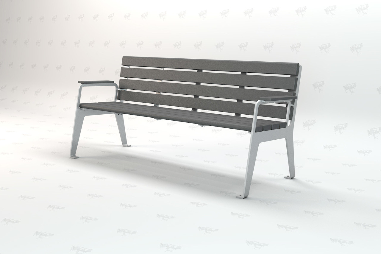 Plaza Recycled  4ft Plastic Outdoor and Park Bench